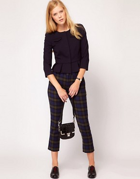 Image 4 ofNW3 Fitted Ponti Jacket with Peplum