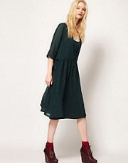 BA&amp;SH V Back Smock Dress with Pocket Detail