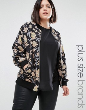 Alice & You Winter Floral Bomber Jacket