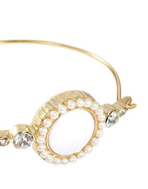 Image 4 ofASOS Stone &amp; Pearl Bangle