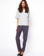 ASOS Peg Pants in Tile Print