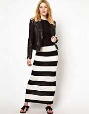 Vila Stripe Maxi Skirt