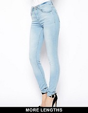 ASOS Ridley Supersoft High Waisted Ultra Skinny Jeans In Ice Blue  Vintage Wash