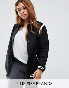 New Look Plus Varsity Bomber
