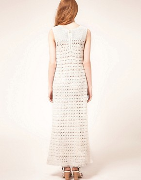 Image 2 ofWhistles Freida Crochet Maxi Dress
