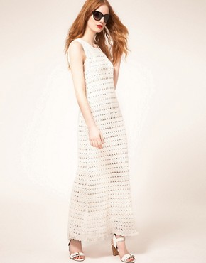 Image 4 ofWhistles Freida Crochet Maxi Dress