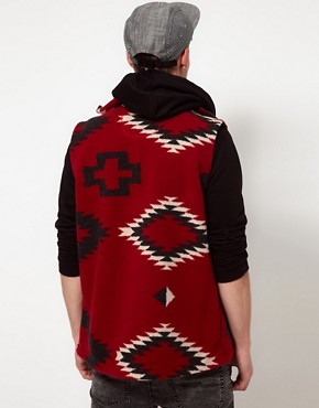 Image 2 ofSprayway Fleece Gilet With Peruvian Print - EXCLUSIVE