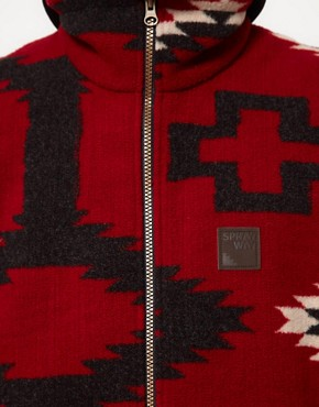 Image 3 ofSprayway Fleece Gilet With Peruvian Print - EXCLUSIVE