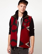 Sprayway Fleece Gilet With Peruvian Print - EXCLUSIVE