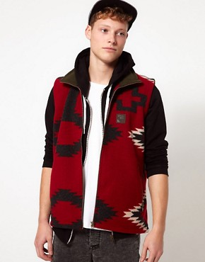 Image 1 ofSprayway Fleece Gilet With Peruvian Print - EXCLUSIVE