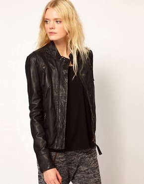 Image 1 ofSelected Dalli Leather Biker Jacket