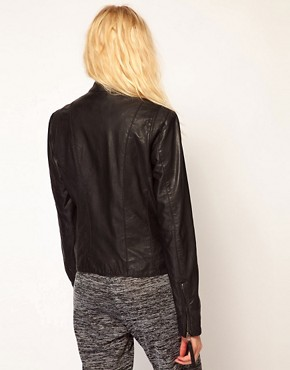 Image 2 ofSelected Dalli Leather Biker Jacket