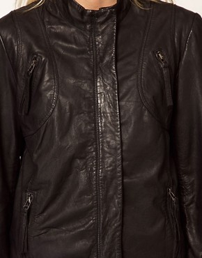 Image 3 ofSelected Dalli Leather Biker Jacket