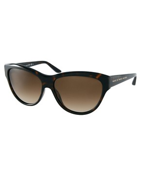 Image 1 ofMarc By Marc Jacobs Dark Havana Cat Eye Frame Sunglasses