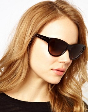 Image 3 ofMarc By Marc Jacobs Dark Havana Cat Eye Frame Sunglasses