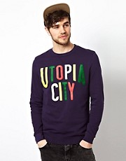 ASOS Sweatshirt With Utopia Print