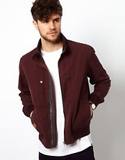 Paul Smith Jeans Bomber Jacket in Canvas Cotton