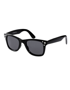 Image 1 ofRiver Island Triple Star Wayfarer Sunglasses
