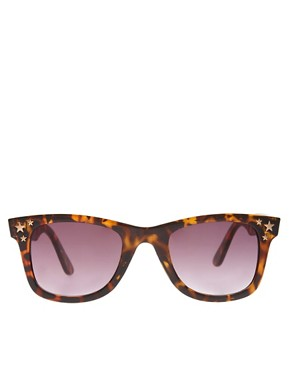 Image 2 ofRiver Island Triple Star Wayfarer Sunglasses