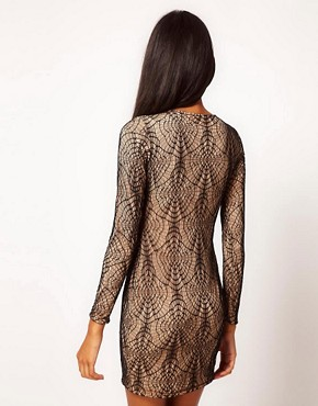 Image 2 ofAqua Web Lace Mini Dress