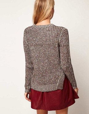 Image 2 ofASOS Premium Jumper In Chunky Ribbed Metallic Yarn
