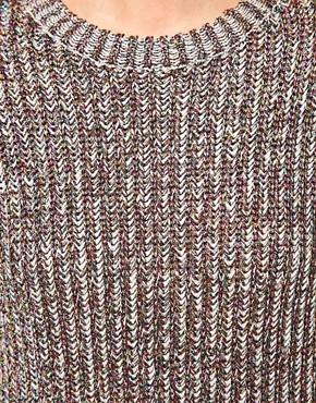 Image 3 ofASOS Premium Jumper In Chunky Ribbed Metallic Yarn