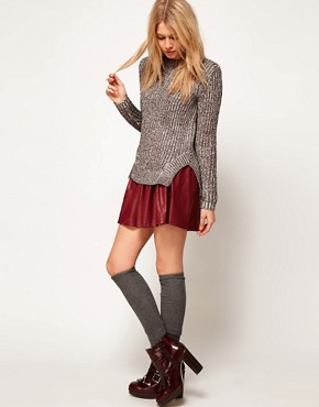 Image 4 ofASOS Premium Jumper In Chunky Ribbed Metallic Yarn