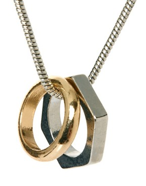 Image 4 ofASOS Ring and Hexagon Necklace