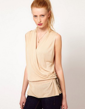 Image 1 ofKookai Fluid Wrap Sleeveless Top