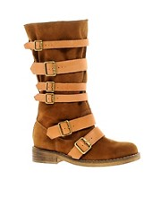 ASOS CABIN Leather Buckle Boots