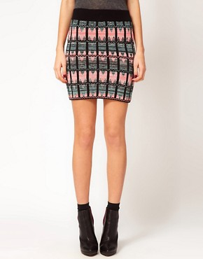 Image 4 ofWarehouse Pattern Mini Skirt