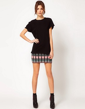 Image 1 ofWarehouse Pattern Mini Skirt