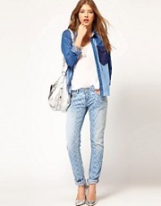 Maison Scotch La Parisienne Jeans in Lazer Print