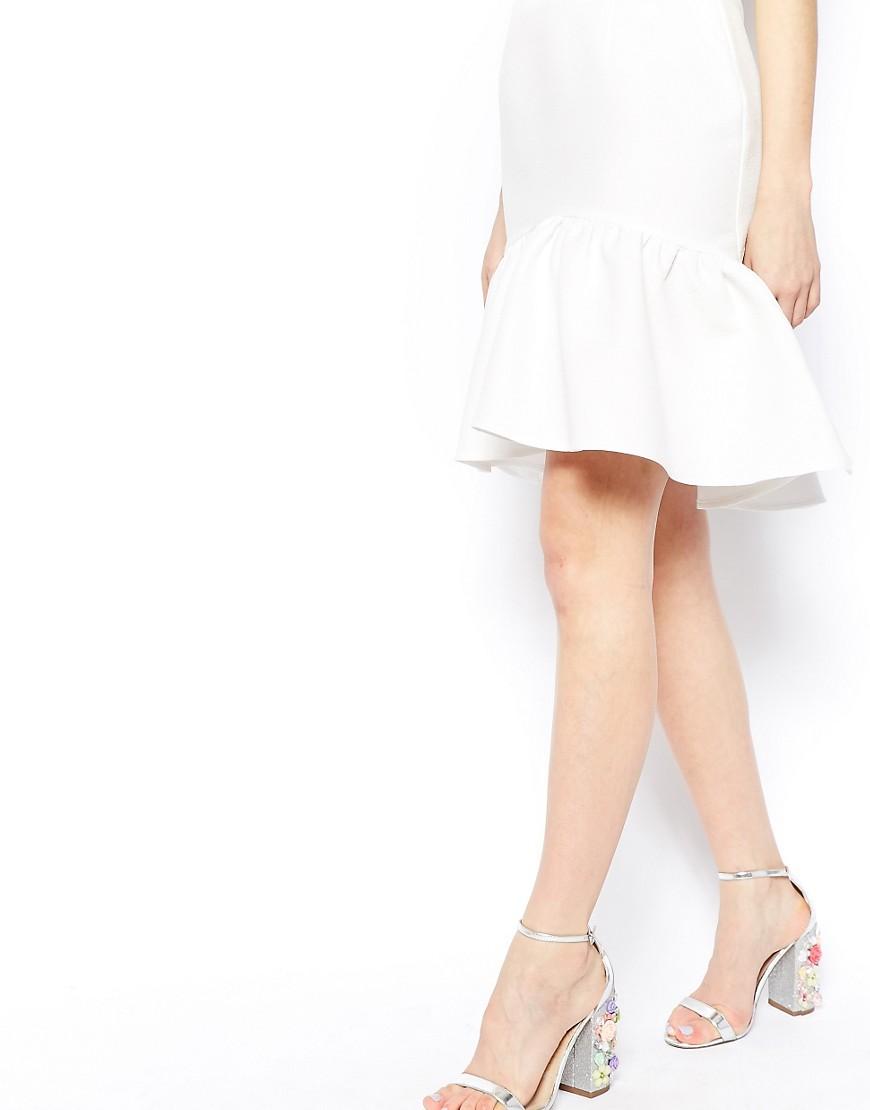 Image 3 ofASOS Mini Skirt In Texture With Peplum Hem