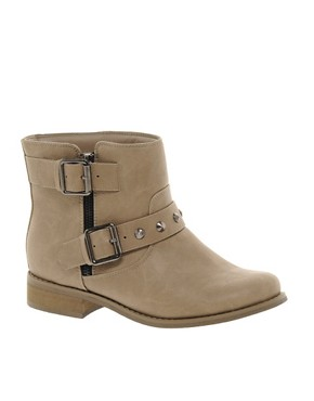 Image 1 ofNew Look Bubble Brown Biker Boots