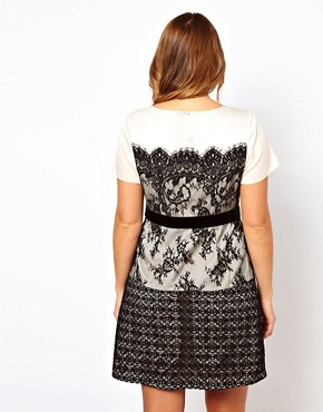 Image 2 ofASOS CURVE Exclusive Dress With Lace Overlay