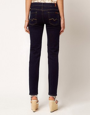 Image 2 of7 For All Mankind Roxanne Skinny Jean Raw Denim