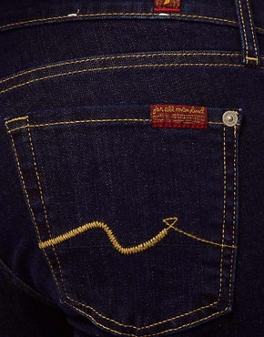 Image 3 of7 For All Mankind Roxanne Skinny Jean Raw Denim