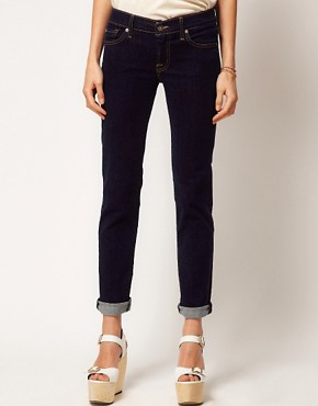 Image 1 of7 For All Mankind Roxanne Skinny Jean Raw Denim