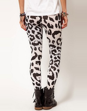 Image 2 ofASOS Leggings In Animal And Ombre