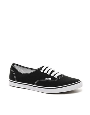 Image 1 ofVans Lo Pro Classic Black and White Lace Up Trainers