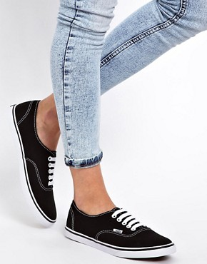 Image 4 ofVans Lo Pro Classic Black and White Lace Up Trainers
