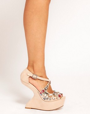 Image 3 ofASOS HIGH IN THE SKY Embellished Wedges