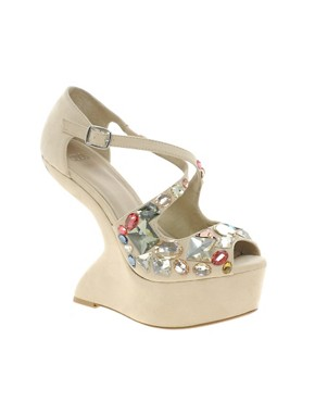 Image 1 ofASOS HIGH IN THE SKY Embellished Wedges