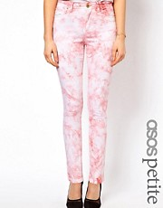 ASOS PETITE Exclusive Tie Dye Skinny Jeans