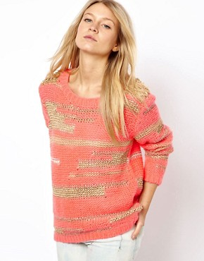 Vila Vila Stud Shoulder Sweater at ASOS from us.asos.com