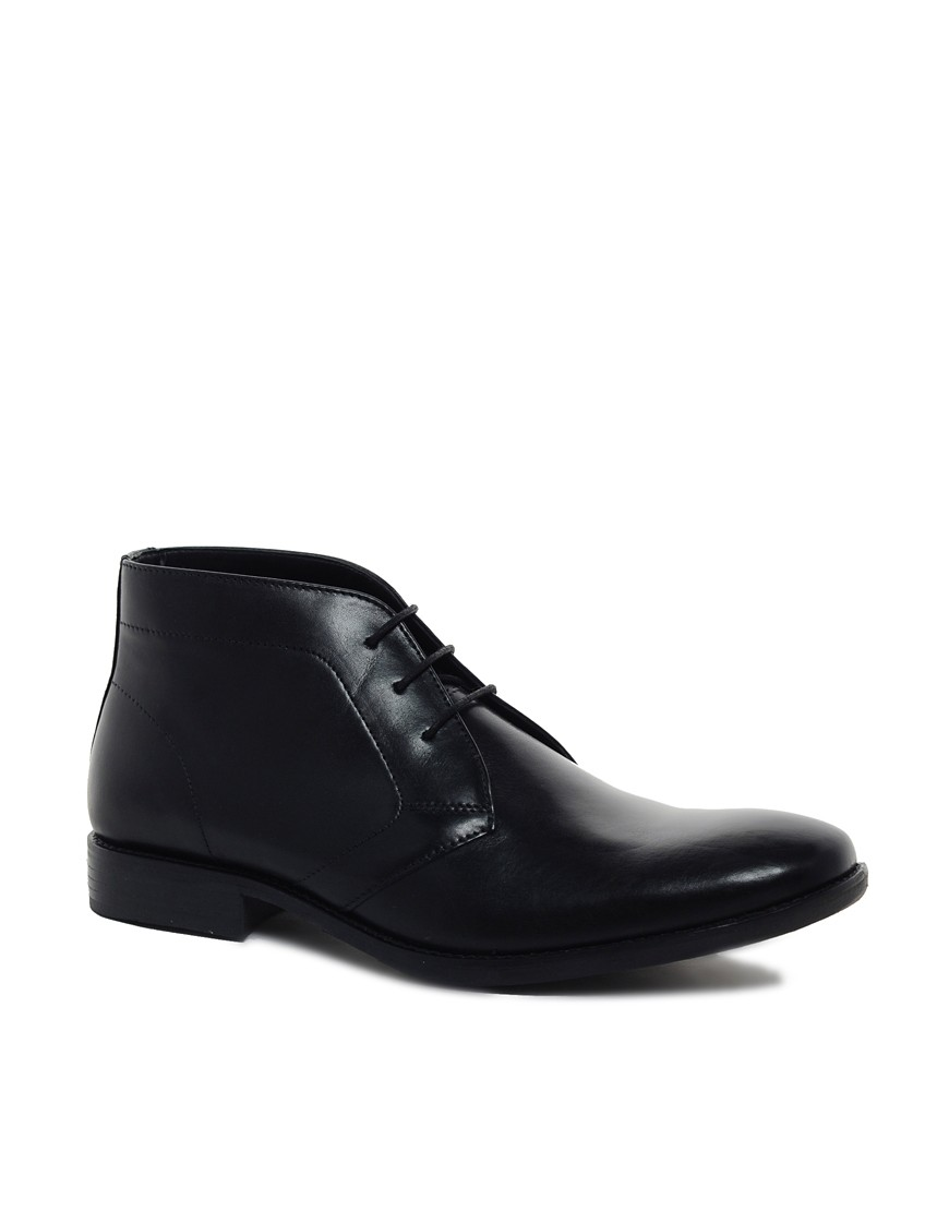 Image 1 of ASOS Chukka Boots in Leather