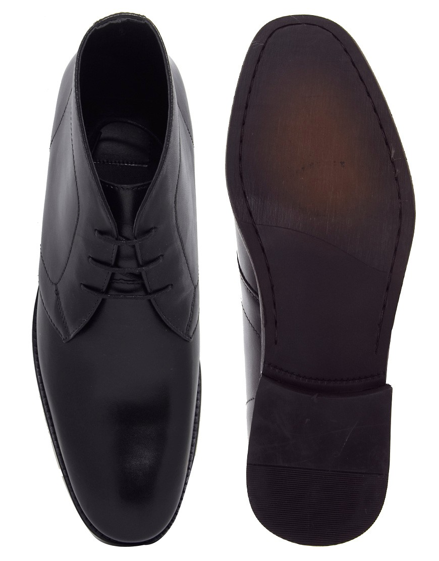 Image 3 of ASOS Chukka Boots in Leather