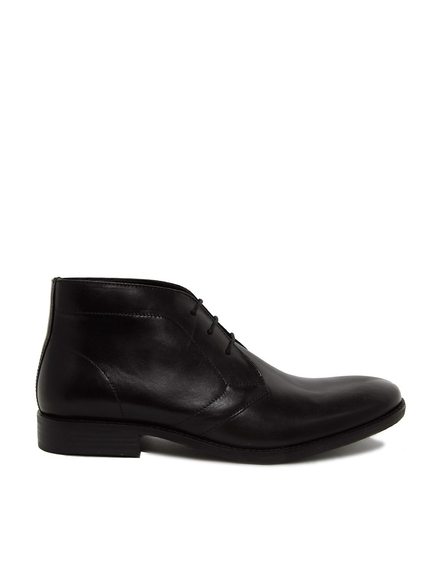 Image 4 of ASOS Chukka Boots in Leather