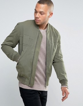 Esprit Bomber Jacket with Tonal Patch Details